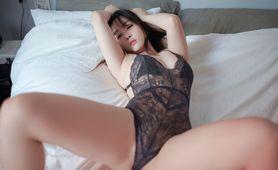 性感女神王雨纯蕾丝情趣内衣私房妩媚诱惑写真